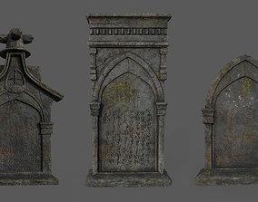 3D model Bloodborne Tombstones