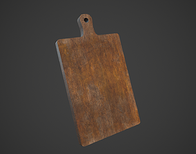 3D asset Old Wooden Cutting Board