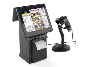 All-in-one POS terminal Posiflex HS2310 3D model