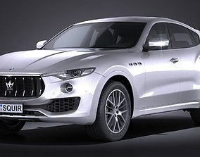 luxury 3D Maserati Levante 2017