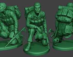 Modern Jungle Soldier Rest MJS1 3D printable model