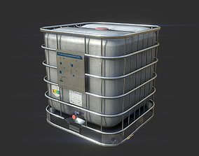 3D asset SQUARE WATER TANK