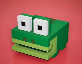 3D model VR / AR ready Voxel - Tree Frog