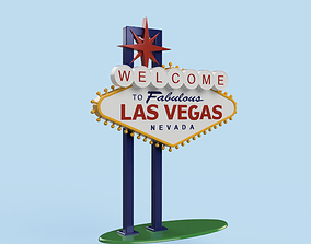 3D print model Welcome to Las Vegas Sign