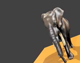 3d model metal Elephant realtime