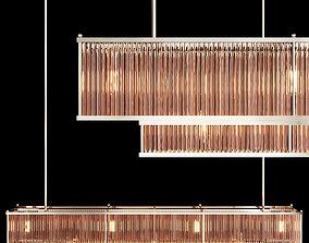 RH MARAIS LINEAR CHANDELIER 72 Nickel and smoke 3D