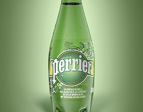 3D food Bottle Perrier 50cl