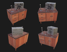 Radio Table WWII 3D model