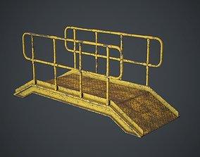 Industrial Metal Platform 1 PBR Game 3D model