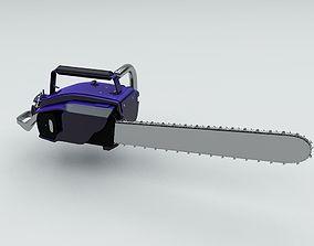 Chainsaw Motor Machine 3D asset