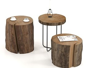 3D Tables of stumps and slab