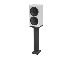 3D asset Speaker and Pedestal