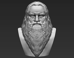 Gimli Lord of the Rings bust 3D printing ready stl obj 1