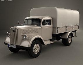 3D model Opel Blitz Flatbed Truck 1940