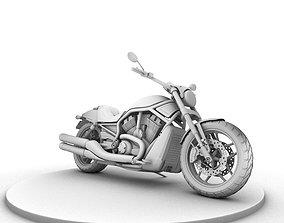 Harley Davison Night Rod 3D model maya