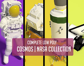 3D asset COMPLETE LOW POLY NASA