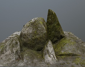 rocks environment 3D model low-poly