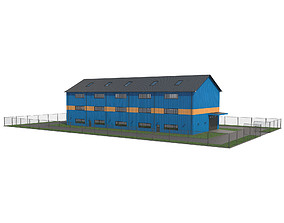 Warehouse With Interior 1 3D model