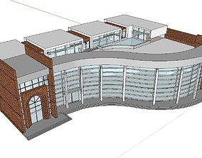 3D model Office-Teaching Building-Canteen 65