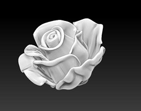 Rose Flower printable 3d model Detailed Realistic