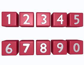 various-models Numbers 3D model