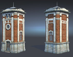 3D model game-ready Water Tower 01