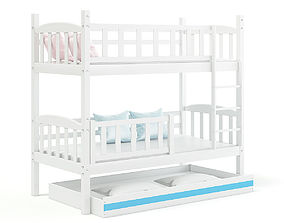 3D model White Bunk Bed