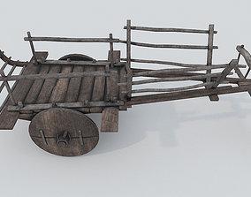 3D asset Ox Cart PBR Low Poly Improved