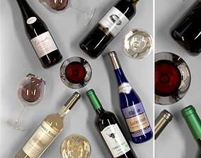 3D model Wine collection 2