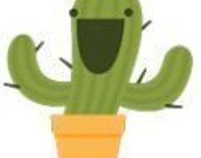 3D print model Cactus Sticker Facebook