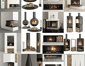 Collection of Fireplaces 3D model
