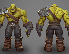3D asset Orc Male - Game Ready PBR Character Low Poly- 1
