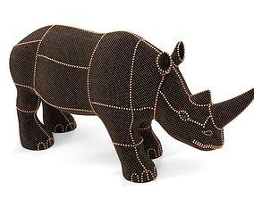 Pearl Rhino decoration statue 3D model