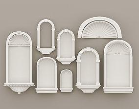 Carving Niche Decorative Gaudi -8 pieces- Set 3D