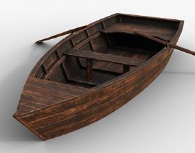 3D asset Old Wooden Boat
