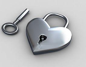 Heart lock 3D model