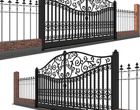 Gate and fence 3D model