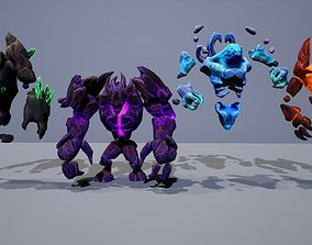 3D asset Elementals Mega Pack