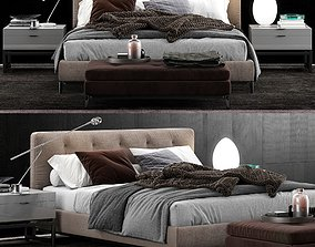 3D model Minotti Andersen Bed Quilt