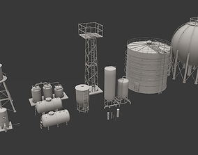 Storage Tanks Pack 3D asset