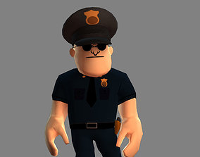 3D model Police Man
