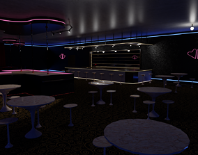 3D model realtime Strip Club Inside Interior