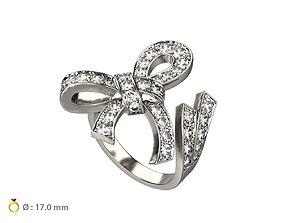3D print model N027 Ribbon ring