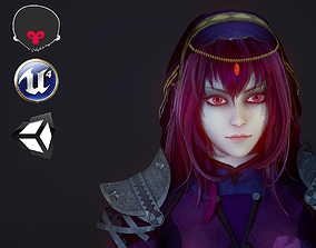 3D model Scathach Lancer PBR rigged