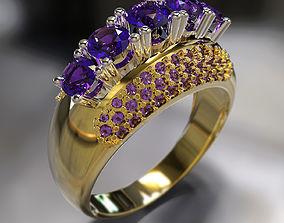 Ring diamond gem 3D printable model