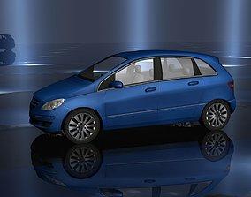 3D model Blue Car Low Poly