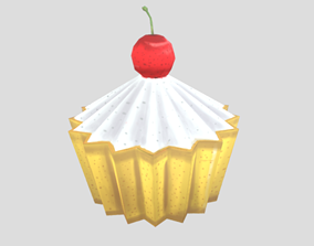 3D asset Cup Cake stylized