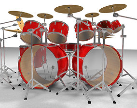 3D model Large Drum Kit - Musical Instrument