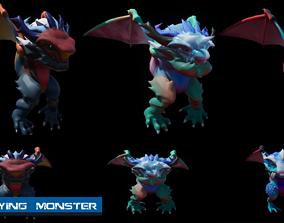 Flying Monster 3D asset animated VR / AR ready