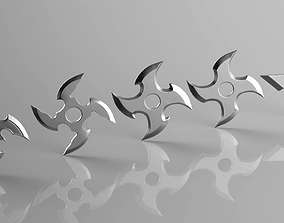 japanese 3D printable model Shuriken 4 Blade set